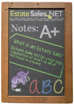 Estate Sales Chalk Board