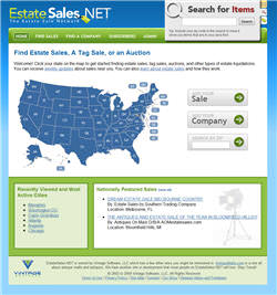 Redesigned EstateSales.NET Website in 2009